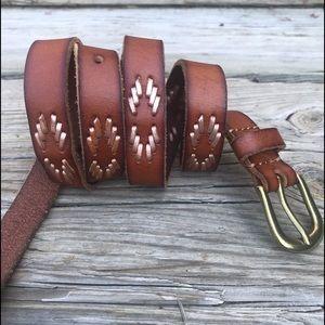 •Anthro• Linea Pelle starburst leather belt